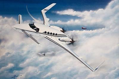Wall Art - Painting - Beechcraft Starship 2000 by Peter Ring Sr