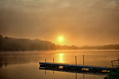 Photograph - Beeds Lake Sunrise Dock by Bonfire Photography