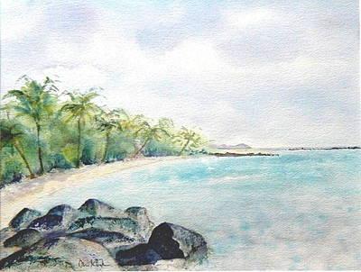 Painting - Beef Island Lagoon by Diane Kirk
