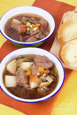 Photograph - Beef Soup And Toast by Vizual Studio
