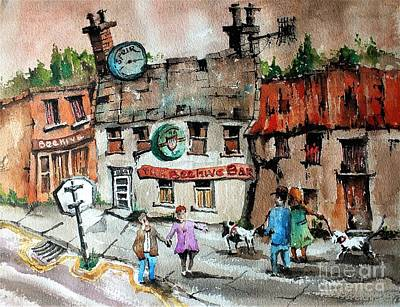 Painting - F 747 Beehive Bar In Leap West Cork by Val Byrne