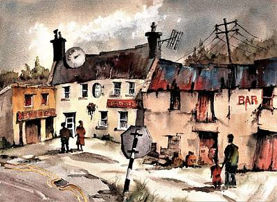 Painting - Beehive Bar In West Cork by Val Byrne
