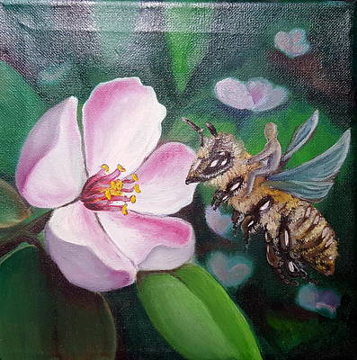 Painting - Beekeeper by Zuzana Perner
