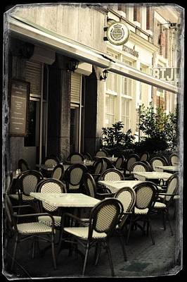Photograph - Beems Brasserie At Rokin Street. Old Cards From Amsterdam by Jenny Rainbow