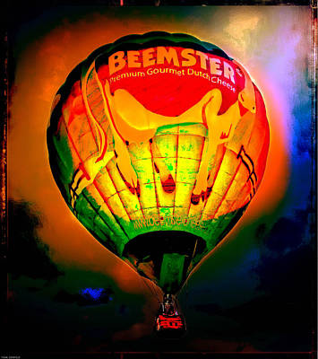Photograph - Beemster The Happy Hot Air Balloon by Thom Zehrfeld