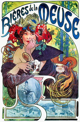 Alphonse Photograph - Beer Ad By Mucha, C1897 by Granger
