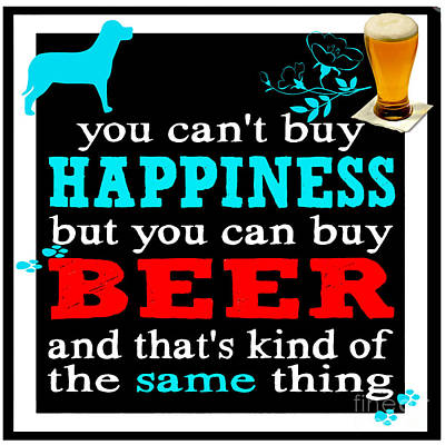 Painting - Beer And Happiness by Saundra Myles