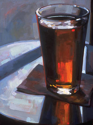 Beer At Vesuvios Art Print by Penelope Moore
