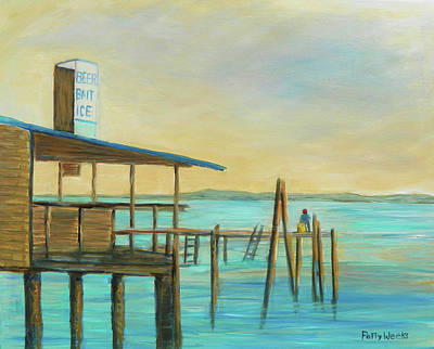 Painting - Beer Bait Ice by Patty Weeks