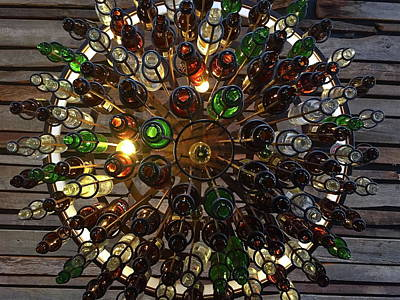 Photograph - Beer Bottle Abstract by Denise Mazzocco