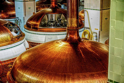 Photograph - Beer Brewing Vats by Mike Braun