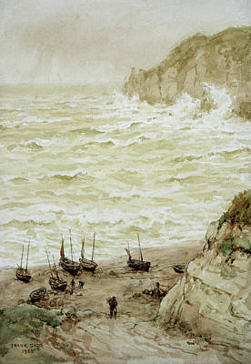 Brewing Painting - Beer Cove In A Storm by Frank Dadd