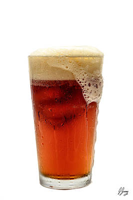 Frosty Mug Photograph - Beer Foaming Over Glass by Joshua Zaring