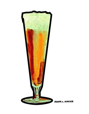 Painting - Beer Glass by Frank Hunter