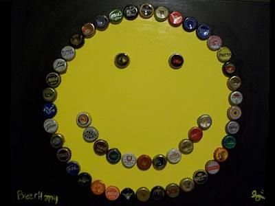 Various Mixed Media - Beer Happy by Laurette Escobar