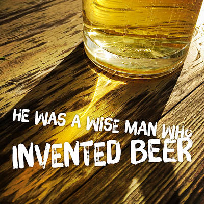 Beer Royalty-Free and Rights-Managed Images - Beer humor - funny quote by Matthias Hauser