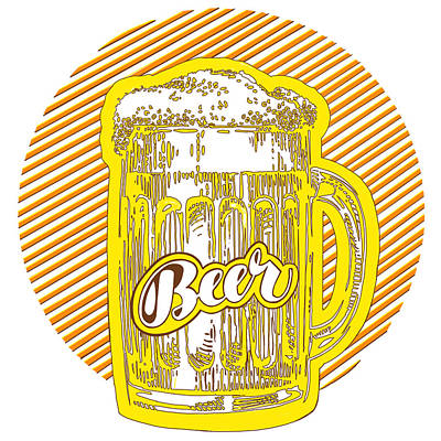 Beer Drawings Royalty Free Images - Beer Royalty-Free Image by Kendall Tabor