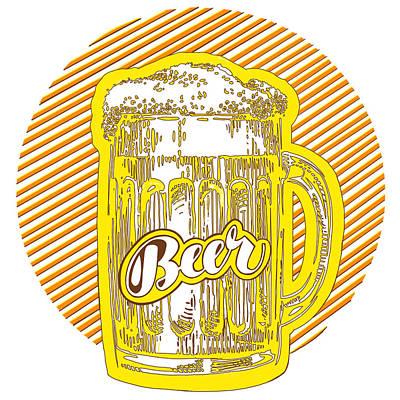Beer Drawings - Beer by Kendall Tabor