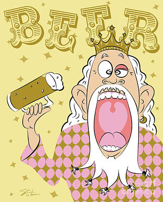 Digital Art - Beer King by Shari Warren