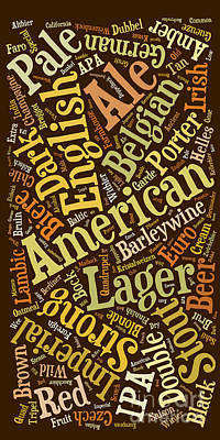 American Landmarks Drawing - Beer Lover Cell Case by Edward Fielding