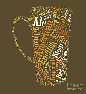 Beer Royalty-Free and Rights-Managed Images - Beer Lovers Tee by Edward Fielding