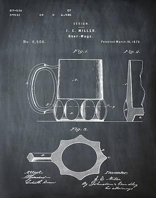 Beer Mug 1873 In Chalk Art Print