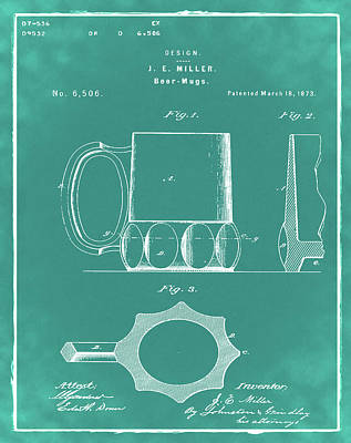 Sepia Chalk Photograph - Beer Mug 1873 In Green by Bill Cannon