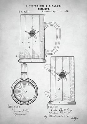 Digital Art - Beer Mug Patent by Taylan Apukovska