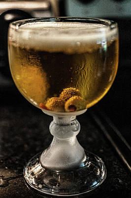 Frosty Mug Photograph - Beer N Olives by Sheri Bartoszek