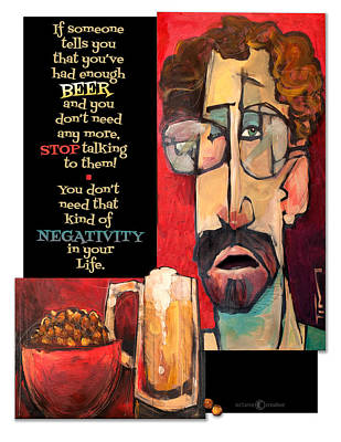 Painting - Beer Negativity by Tim Nyberg