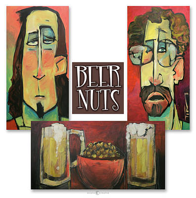 Beer Nuts Trio Art Print