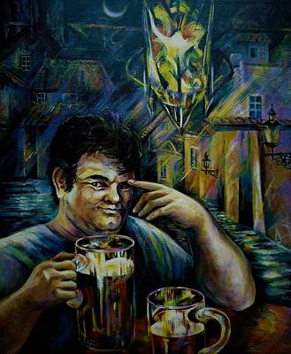 Painting - Beer Of Prague by Anna Duyunova