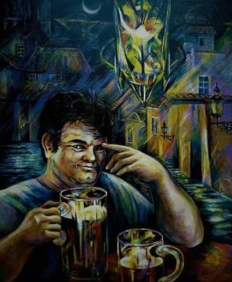 Painting - Beer Of Prague by Anna Duyunova