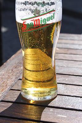 Bar San Miguel Photograph - Beer Shadows by Lauri Novak