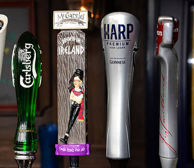 Photograph - Beer Taps Four by David Lee Thompson