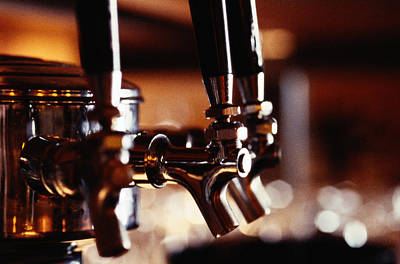 Brown Snake Photograph - Beer Taps by Ryan McVay