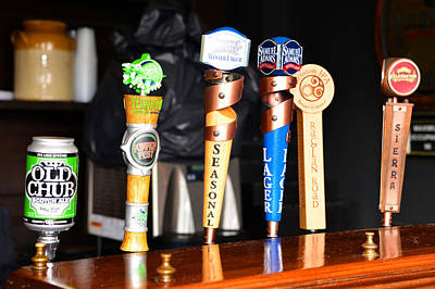 Photograph - Beer Taps Six by David Lee Thompson
