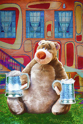 Digital Art - Beers Bears And River Arts by John Haldane