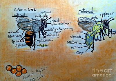 Pastel - Bees  by Francine Heykoop