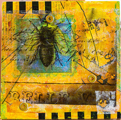 Mixed Media - Bees In Need #1 by Carmen Williams