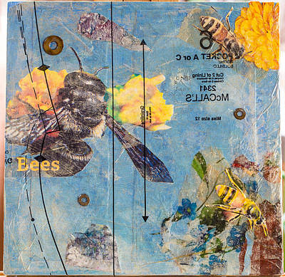 Mixed Media - Bees In Need #4 by Carmen Williams