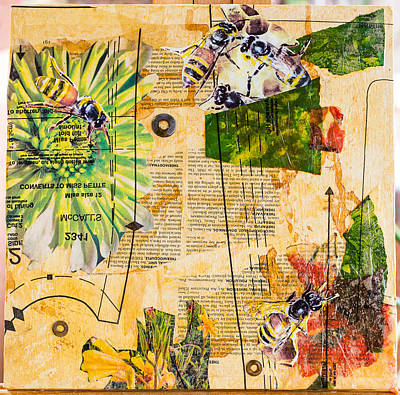 Mixed Media - Bees In Need #5 by Carmen Williams