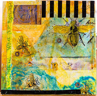 Mixed Media - Bees In Need #6 by Carmen Williams