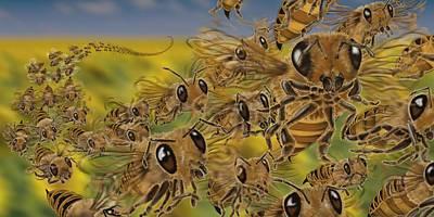 Bees Art Print by Tom Wrenn