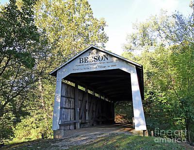 Beeson Covered Bridge Indiana Art Print