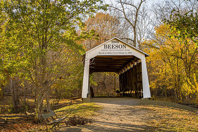 Photograph - Beeson Covered Bridge by Jack R Perry
