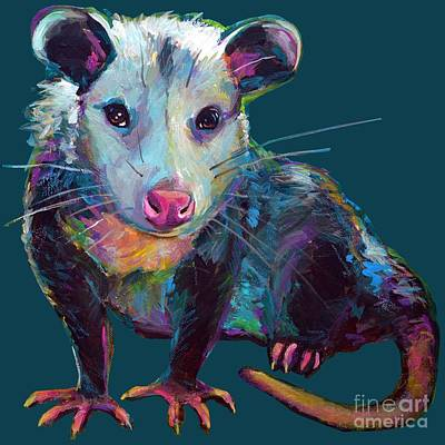Painting - Beethove, The Opossum  by Robert Phelps