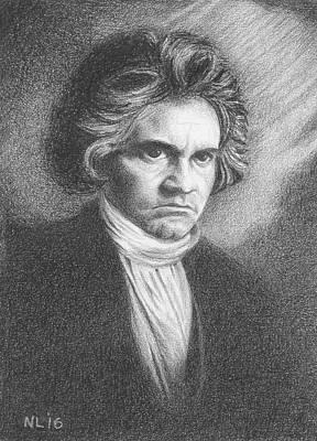 Beethoven  - Pencil Study Art Print