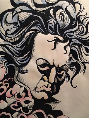 Drawing - Beethoven by Jan Steinle