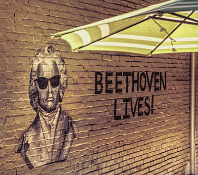 Photograph - Beethoven Lives 1 by Steven Greenbaum
